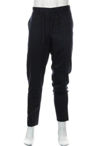 Мъжки панталон Selected Homme, Размер L, Цвят Син, 78% полиестер, 17% вискоза, 5% еластан, Цена 40,05лв.