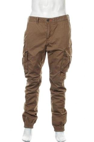 Ανδρικό παντελόνι Superdry, Μέγεθος L, Χρώμα Καφέ, Βαμβάκι, Τιμή 27,15€
