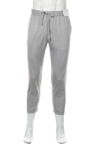 Мъжки панталон Topman, Размер M, Цвят Сив, 66% полиестер, 32% вискоза, 2% еластан, Цена 13,80лв.