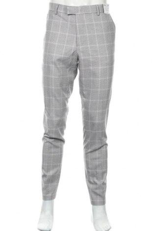 Pánské kalhoty  Topman, Velikost XL, Barva Šedá, 66% polyester, 32% viskóza, 2% elastan, Cena  570,00Kč