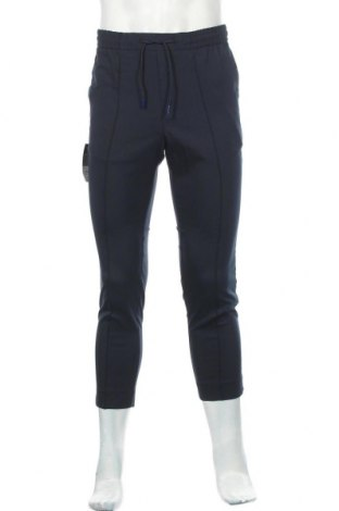 Мъжки панталон Topman, Размер M, Цвят Син, 65% полиестер, 34% вискоза, 1% еластан, Цена 13,12лв.