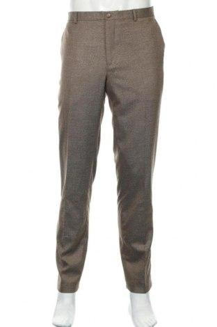 Pantaloni de bărbați Viggo, Mărime L, Culoare Maro, 64% poliester, 34% viscoză, 2% elastan, Preț 93,26 Lei