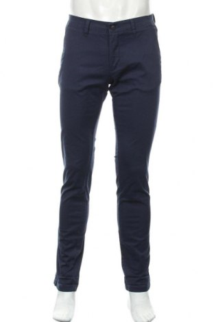 Ανδρικό παντελόνι Zara Man, Μέγεθος M, Χρώμα Μπλέ, 98% βαμβάκι, 2% ελαστάνη, Τιμή 20,98€