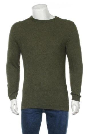 Pulover de bărbați Dressmann, Mărime S, Culoare Verde, Bumbac, Preț 32,57 Lei