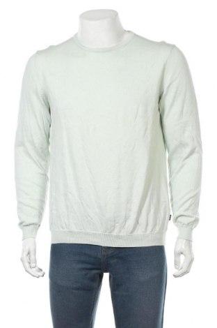 Мъжки пуловер Hugo Boss, Размер L, Цвят Зелен, Памук, Цена 56,70лв.