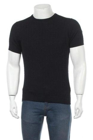 Pánský svetr  Massimo Dutti, Velikost M, Barva Modrá, 100% bavlna, Cena  643,00Kč