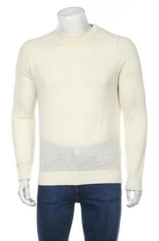 Мъжки пуловер Massimo Dutti, Размер M, Цвят Екрю, 75% вълна, 25% полиамид, Цена 27,72лв.