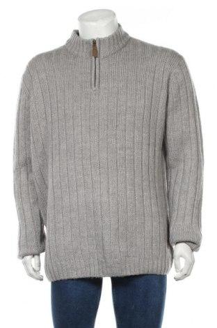 Мъжки пуловер Vrs, Размер XXL, Цвят Сив, 40% акрил, 20% памук, 20% вълна, 20% полиамид, Цена 17,38лв.