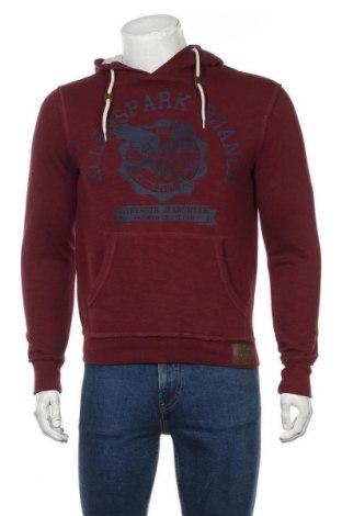 Мъжки суичър Angelo Litrico, Размер S, Цвят Червен, 78% памук, 22% полиестер, Цена 14,70лв.