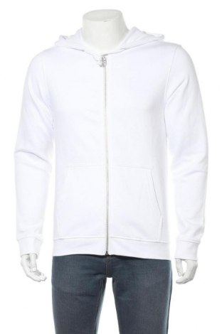 Мъжки суичър Pier One, Размер M, Цвят Бял, 80% памук, 20% полиестер, Цена 34,22лв.