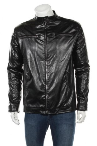Pánská kožená bunda , Velikost XL, Barva Černá, Eko kůže, Cena  603,00Kč