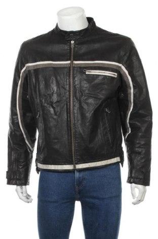 Pánská kožená bunda  Clockhouse, Velikost L, Barva Černá, Pravá kůže, Cena  1274,00Kč