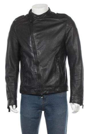 Pánská kožená bunda  Drykorn for beautiful people, Velikost L, Barva Černá, Pravá kůže, Cena  2060,00Kč