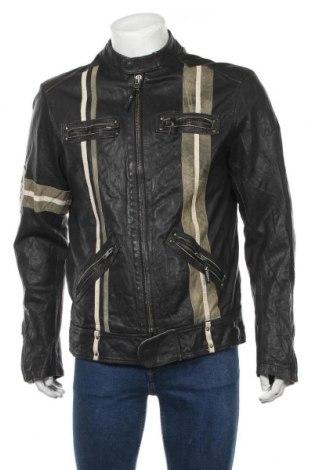 Pánská kožená bunda  Jack & Jones, Velikost XL, Barva Černá, Pravá kůže, Cena  1206,00Kč