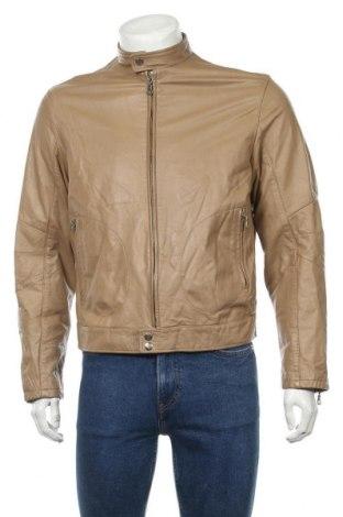 Pánská kožená bunda  Selected, Velikost L, Barva Béžová, Pravá kůže, Cena  1277,00Kč