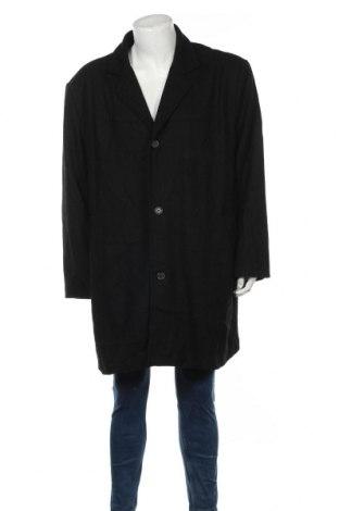 Мъжко палто, Размер 3XL, Цвят Черен, 60% вълна, 40% вискоза, Цена 41,00лв.