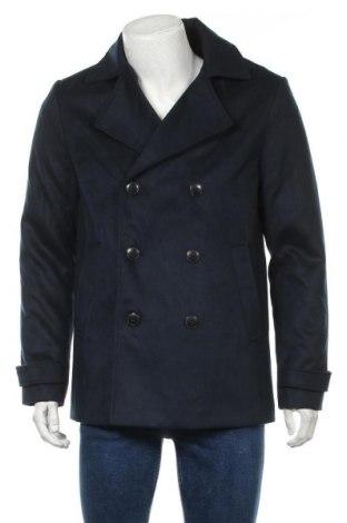 Мъжко палто, Размер M, Цвят Син, Полиестер, Цена 53,28лв.