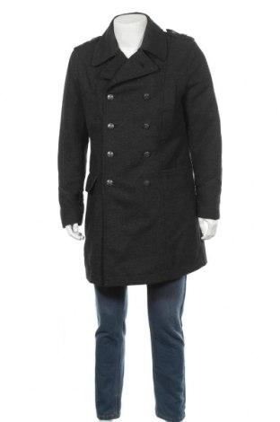 Мъжко палто H&M, Размер L, Цвят Сив, 60% полиестер, 20% вискоза, 20% вълна, Цена 37,54лв.