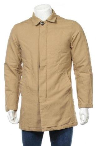Мъжко палто Originals By Jack & Jones, Размер M, Цвят Бежов, Памук, Цена 28,86лв.