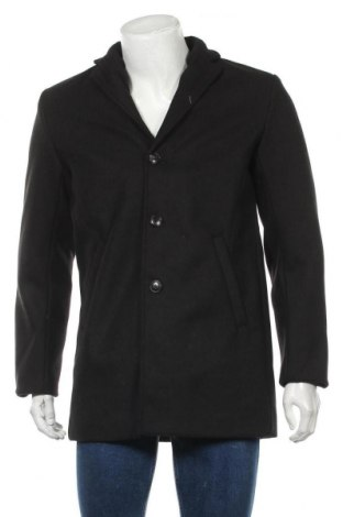 Мъжко палто Rebel, Размер S, Цвят Черен, 95% полиестер, 5% вискоза, Цена 104,25лв.