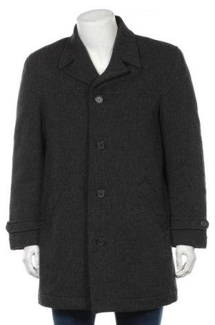 Мъжко палто WE, Размер M, Цвят Сив, 51% вълна, 25% полиестер, 17% вискоза, 6% полиамид, Цена 32,60лв.