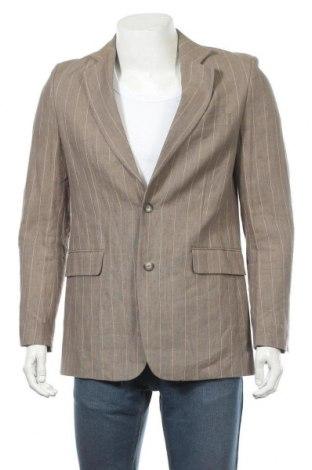 Мъжко сако Bruuns Bazaar, Размер M, Цвят Бежов, Лен, Цена 11,03лв.