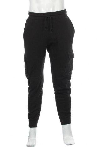 Pantaloni trening de bărbați Topman, Mărime M, Culoare Negru, Bumbac, Preț 133,22 Lei