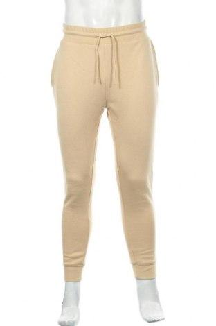 Pantaloni trening de bărbați Topman, Mărime M, Culoare Bej, 58% bumbac, 42% poliester, Preț 145,56 Lei