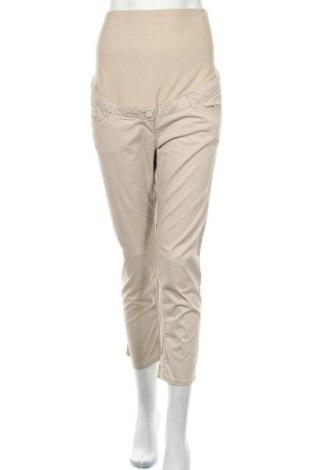 Kalhoty pro těhotné  H&M Mama, Velikost L, Barva Béžová, 97% bavlna, 3% elastan, Cena  364,00Kč