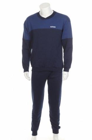 Пижама, Размер L, Цвят Син, 50% полиестер, 50% памук, Цена 40,94лв.