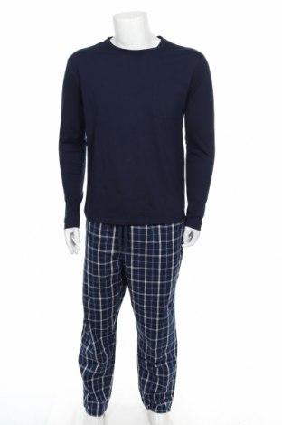 Pijama, Mărime M, Culoare Albastru, 60% poliester, 40% bumbac, Preț 87,77 Lei