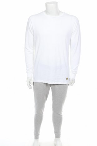 Pijama Lyle & Scott, Mărime M, Culoare Alb, 95% bumbac, 5% elastan, Preț 156,32 Lei