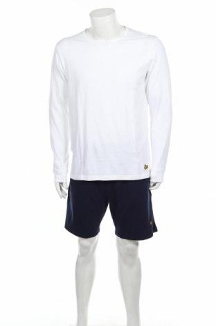 Pijama Lyle & Scott, Mărime L, Culoare Alb, 95% bumbac, 5% elastan, Preț 124,74 Lei