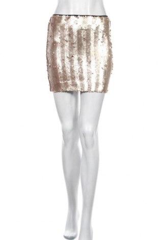 Пола Bardot, Размер S, Цвят Златист, Полиамид, Цена 5,75лв.