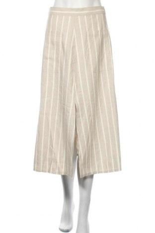 Пола Massimo Dutti, Размер S, Цвят Бежов, 52% лен, 30% памук, 18% вискоза, Цена 43,60лв.