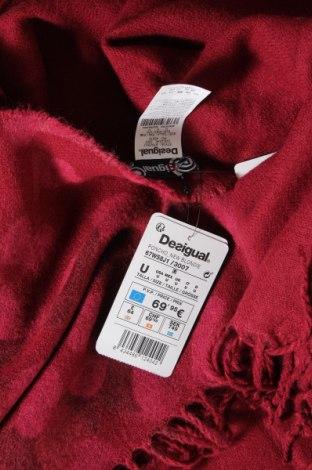 Пончо Desigual, Размер M, Цвят Червен, 100% акрил, Цена 24,75лв.