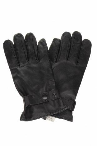 Γάντια, Χρώμα Μαύρο, Γνήσιο δέρμα, Τιμή 22,80€