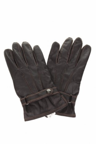 Γάντια, Χρώμα Καφέ, Γνήσιο δέρμα, Τιμή 19,29€
