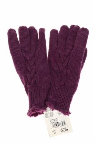 Rękawiczki ISOTONER, Kolor Fioletowy, Akryl, poliamid, skóra naturalna, Cena 64,80zł
