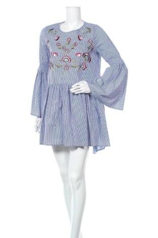 Šaty  Desigual, Velikost M, Barva Modrá, 69% bavlna, 27% polyamide, 4% elastan, Cena  612,00Kč