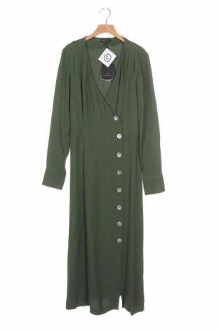 Рокля Massimo Dutti, Размер XS, Цвят Зелен, 95% вискоза, 5% еластан, Цена 51,60лв.