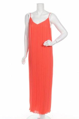 Рокля Massimo Dutti, Размер M, Цвят Оранжев, Полиестер, Цена 64,07лв.