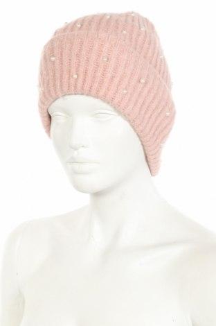Шапка Zara, Цвят Розов, 62% акрил, 35% полиамид, 3% еластан, Цена 11,55лв.