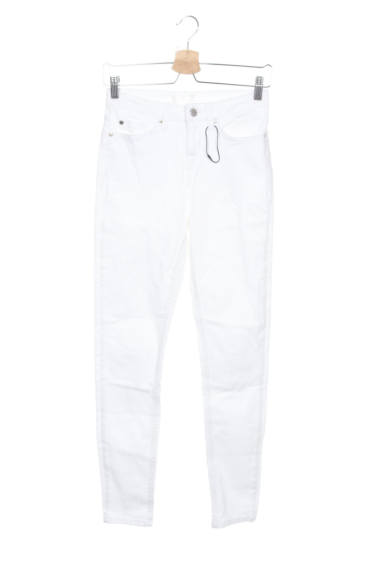Дамски дънки, Размер XS, Цвят Бял, Цена 23,10лв.