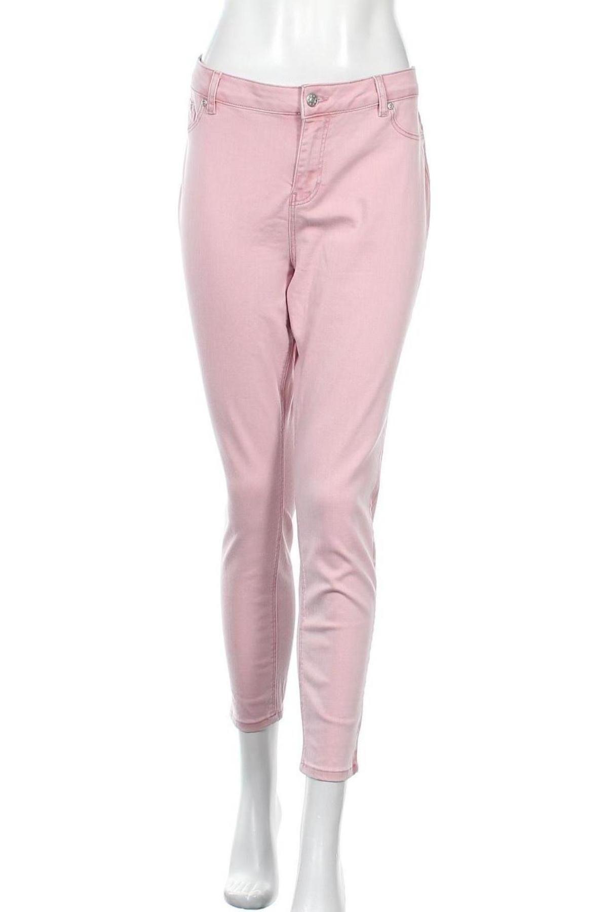 Дамски дънки Buffalo, Размер XL, Цвят Розов, 97% памук, 3% еластан, Цена 27,44лв.