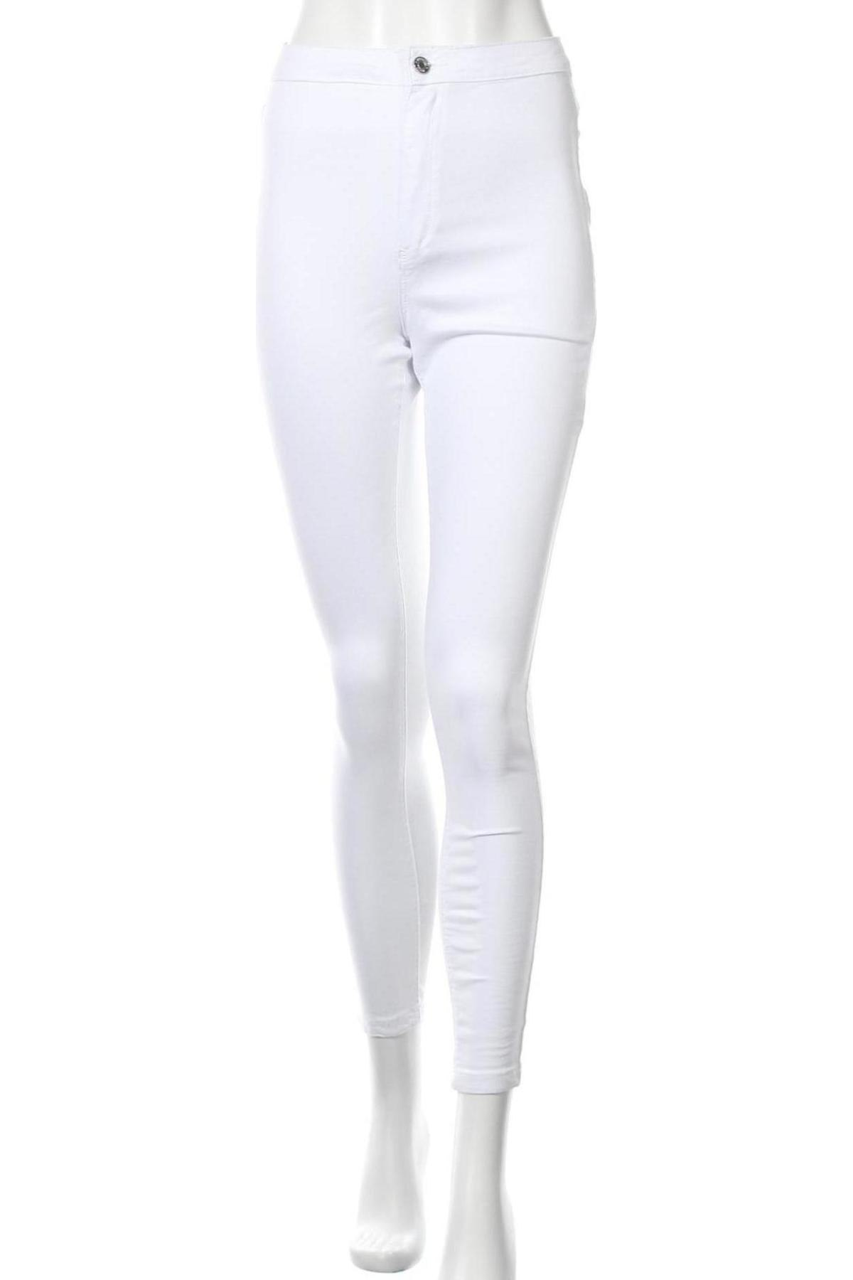 Дамски дънки Missguided, Размер M, Цвят Бял, 98% памук, 2% еластан, Цена 21,83лв.