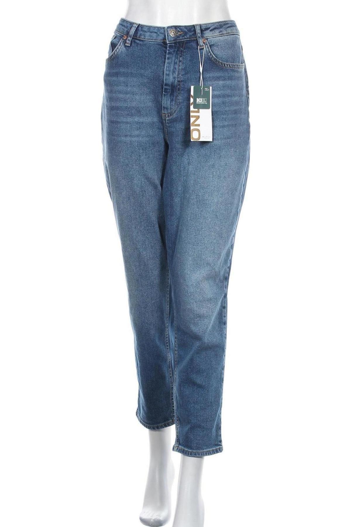 Дамски дънки ONLY, Размер L, Цвят Син, 99% памук, 1% еластан, Цена 36,18лв.