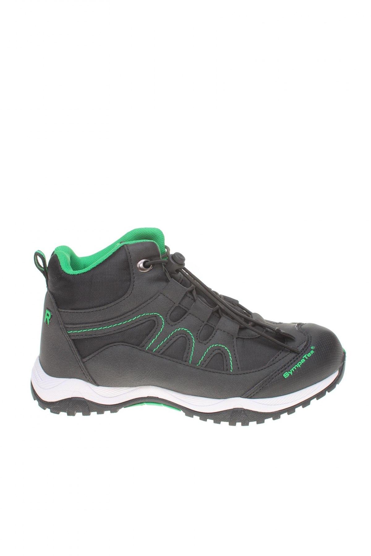 Детски обувки Richter, Размер 34, Цвят Черен, Еко кожа, текстил, Цена 81,75лв.