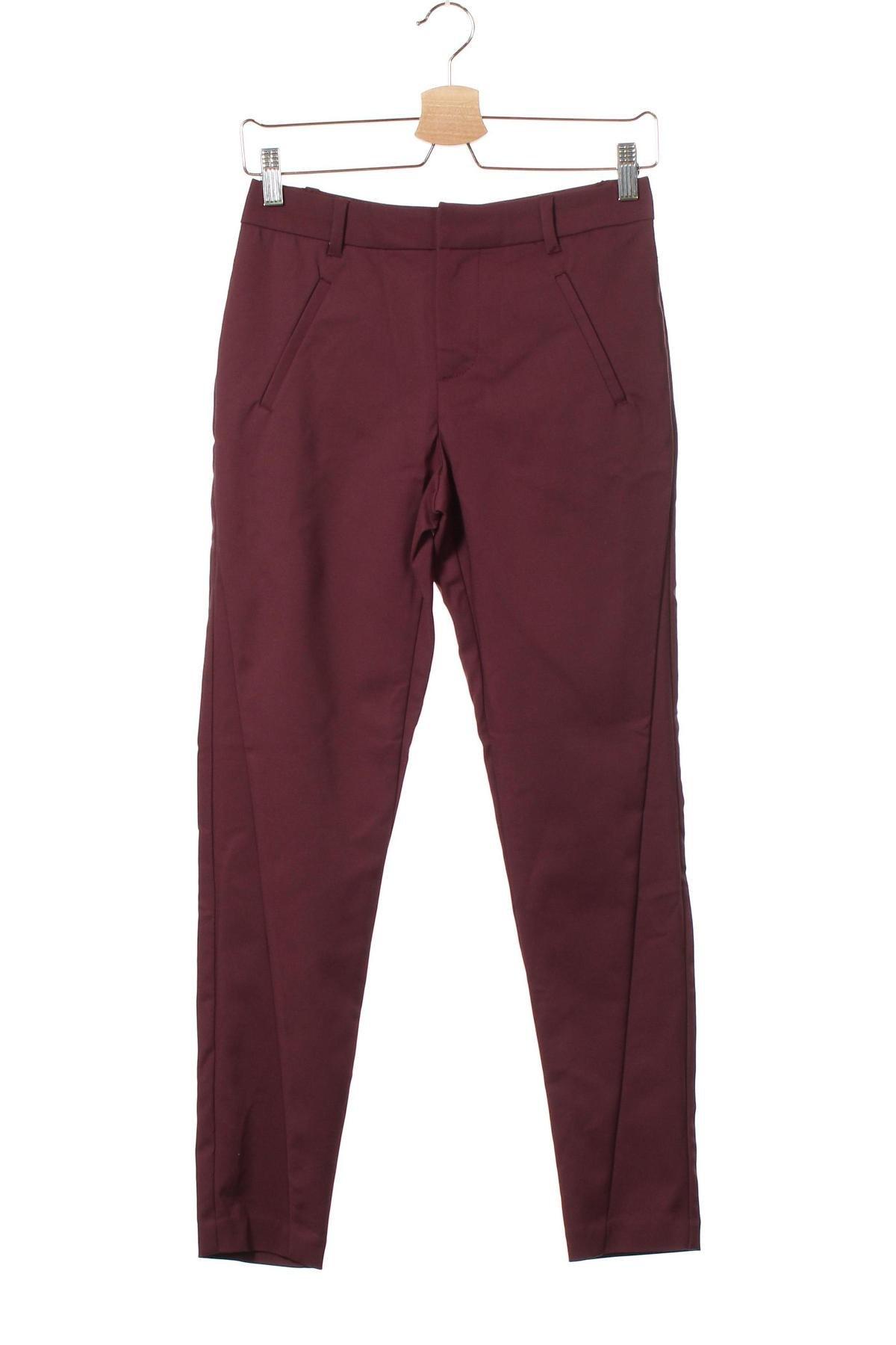 Дамски панталон Vero Moda, Размер XS, Цвят Червен, 49% памук, 48% полиестер, 3% еластан, Цена 42,00лв.