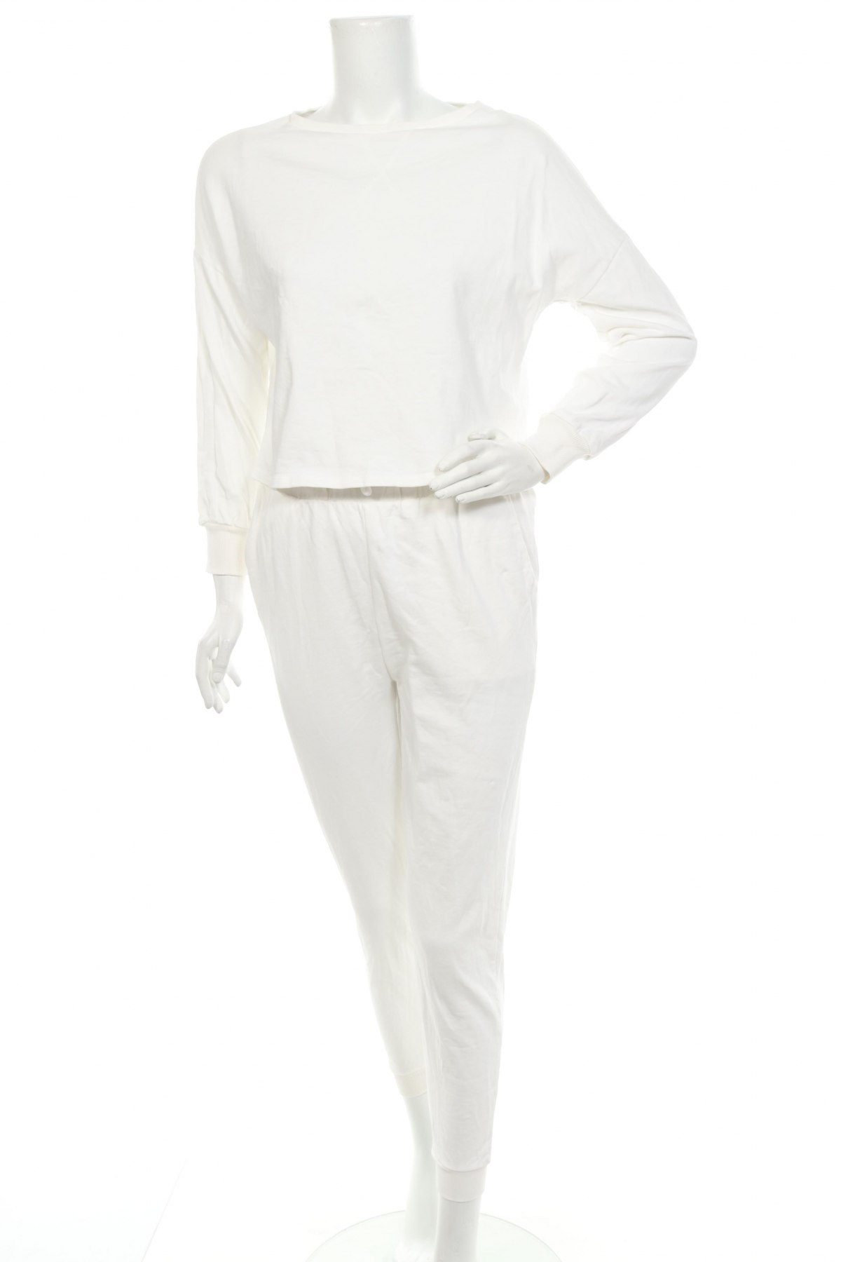 Дамски спортен комплект Anna Field, Размер XS, Цвят Бял, Памук, Цена 40,96лв.
